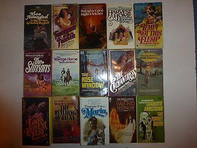Vintage Lot of 15 Historical Gothic Romance Large Novels in Paperback