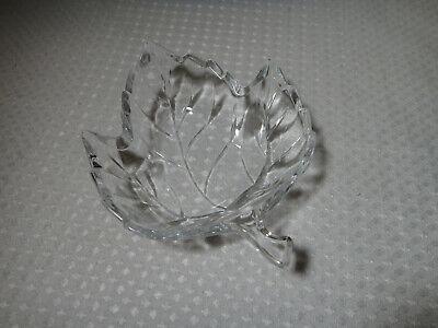 Maple Leaf Shaped Clear Glass Candy Dish Small Bowl Fall Autumn Decor Clear Leaf Bowl