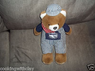 ESSEX STEAM TRAIN & RIVERBOAT PLUSH BEAR COLLECTIBLE VACATION  DOLL FIGURE