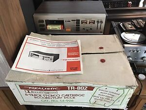 Near Mint 1979 Realistic TR-802  8 track player recorder