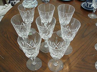 "STUART CANTERBURY 8 WINE GLASSES 6 5/8"""