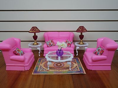 My Fancy Life Living Room Sofa and love seat set (9704) For Doll House Furniture