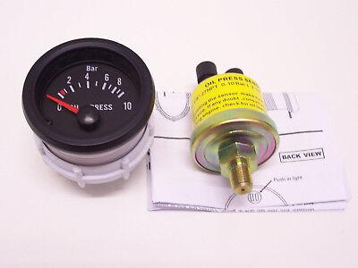 RSR Öldruck Anzeige SET 52mm Retro Look mit Geber Messer 16V G60 G40 VR6 Turbo R
