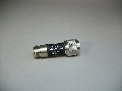 Lucas Weinschel Model 2 Attenuator 30 Db N Type Connector - New Old Stock