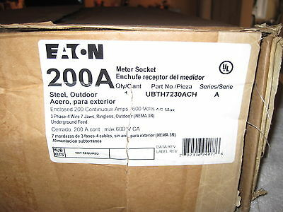 Eaton Ubth7230ach 200 Amp 3 Phase Meter Socket Door Cover Only