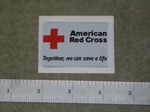 """ten pieces, American Red Cross Patch, """"Together We Can Save A Life"""", Iron On"""