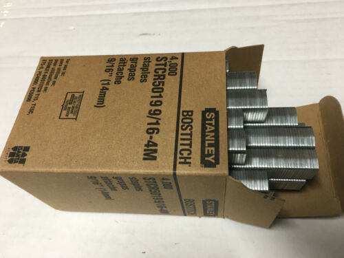"STCR5019 9/16-4M Power Crown Bostitch Staples   ""NIB"""