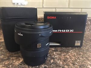 Sigma 10-20mm F4-5.6 EX DC (for CANON)