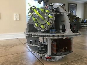 Death star assembled star wars lego with 24 figurines