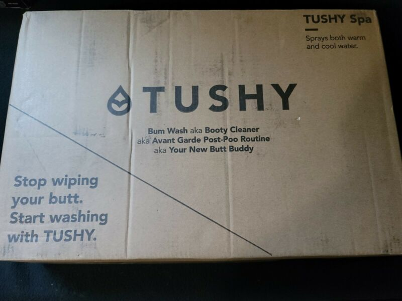 Tushy Spa Classic Bum Wash Booty Cleaner Warm Cold Bidet Complete New Open Box