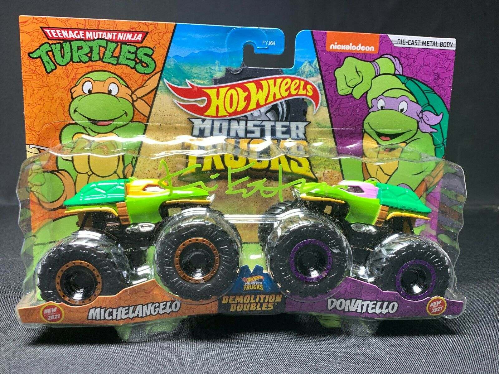 Kevin Eastman Signed Ninja Turtles Hot Wheels Truck PSA 9A66852 Donatello - $149.96