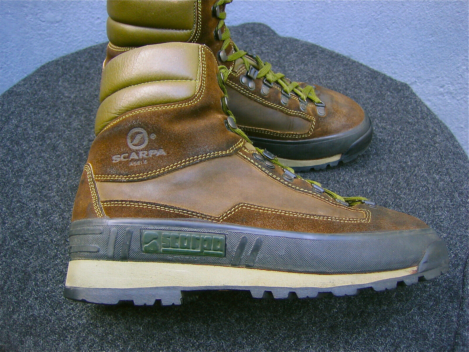 SCARPA (ASOLO) Wanderschuhe Stiefel Trekking ***UK 8 / EUR 42*** VIBRAM Leder