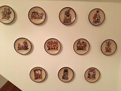 11, GOEBEL, HUMMEL ,CENTURY COLLECTION SERIES,  SMALL WALL PLATES - boxed 1980s