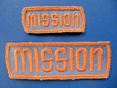 2 Lot - MISSION Brand Embroidered Patches -Vintage NOS