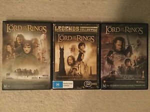 Lord of the Rings Trilogy DVD set Kew Boroondara Area Preview