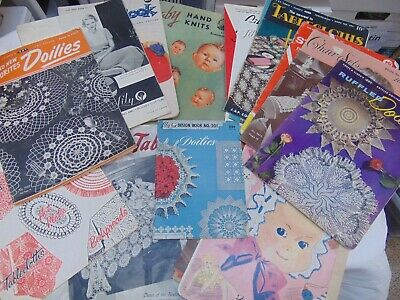 Vtg Crocheting Knitting Tatting Booklets LOT from the 1930's, 1940's, 1950's