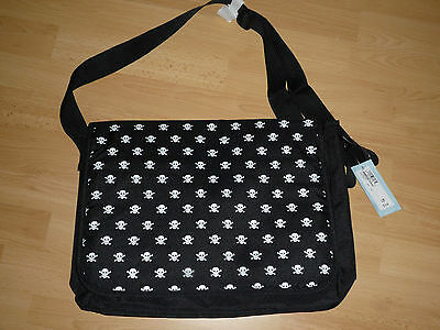 M&S Black Skull & Crossbones Design Documents Bag Holdall . BNWT RRP £14