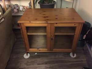 Wood entertainment centre from ikea