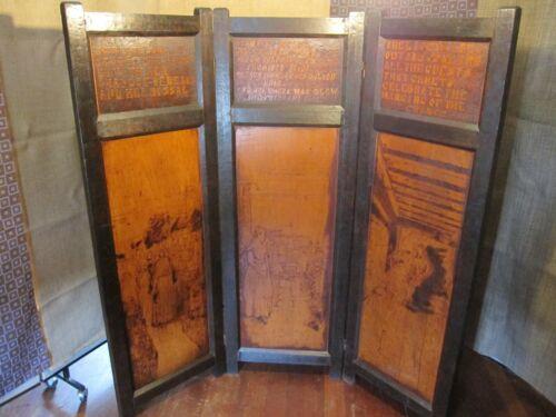 Antique Mission Style Hand Carved  Room Divider
