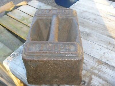 ANTIQUE CAST IRON 56LB  WEIGHT...