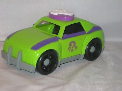 Fisher Price Imaginext Batman The Riddler Green Purple Toy Car 2009 Pre-Owned