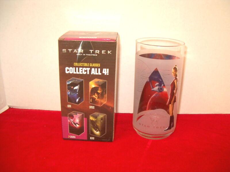 "STAR TREK ""UHURA"" COLLECTIBLE GLASS NEW WITH ORIGINAL BOX 2008 BURGER KING"