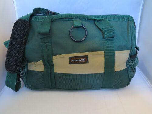 Fiskars Green Craft Organizer Canvas Duffle Bag w/Shoulder Strap