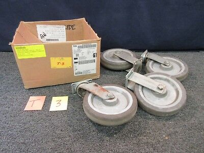 Forbes Plate Caster Wheel Straight Swivel Dolly Cart 8 Rubber Steel Industrial