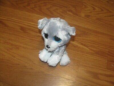 TY Beanie Boos Whiskers Schnauzer Dog Plush Big Eyes 6 2015