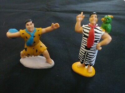 VINTAGE Fred Flintstone Movie Toy Figures - Lot of 2 - Parrot and Bowling (Flintstones Bowling)