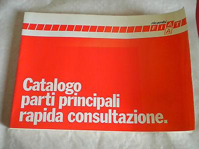 Vintage factory parts catalogue Fiat ricambi Rapid consult Principal parts 1984
