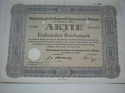 Deutschland - Württemberg.Baumwoll-Spinnerei u. Weberei AG 1/107