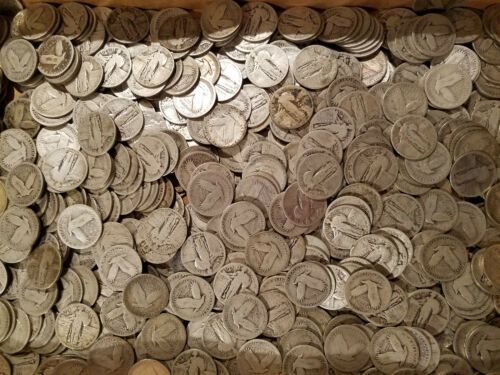 (1) $.25 1916-1930 Standing Liberty Quarter Coin Classic AG or Better 90% Silver