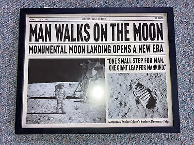 """Open Road Brands Man Walks On The Moon Wall Sign Decor 20x16"""""""