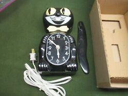 KIT CAT KLOCK D8 BLACK ORIGINAL BOX BLACK ELECTRIC WORKING ORDER