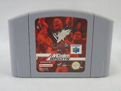 WWF Attitude N64 Nintendo 64 Cartridge Only PAL