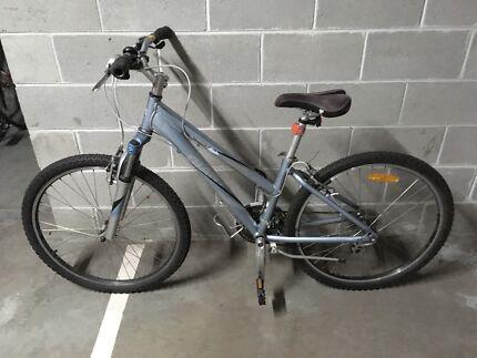 Blue mountain bike lightweight
