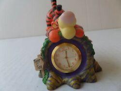 Disney Pooh TIGGER Time Miniature Desk Watch Clock 87-511 new battery