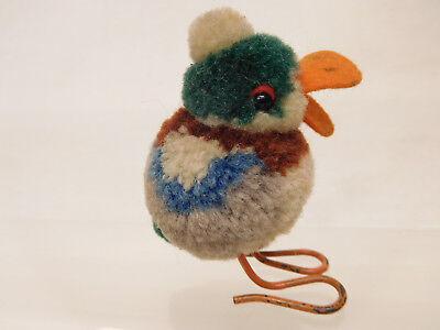 MES-56754Älterer Steiff Woll Vogel ohne Knopf und Fahne H:ca.5,5cm,