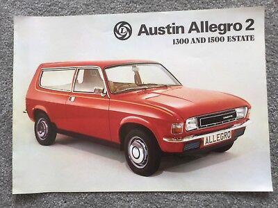 AUSTIN Allegro 2 1300 & 1500 Estate brochure Oct 1976 in VGC