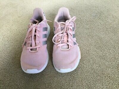 Adidas Shoes Cloudfoam Racer TR Girls' Sneakers Size 3 Pink White GUC Shoes