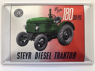 Blechschild 30 X 20 cm Steyr Diesel Traktor 30 PS Typ 180