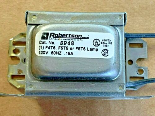 ROBERTSON TRANSFORMER/BALLAST SP48 - FOR F4T5, F6T5, F8T5 LINEAR TUBES  (73-20)