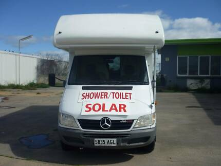 Mercedes Benz 5 Cyl Diesel 5 Sp Auto Motor home with Car Trailer Port Wakefield Wakefield Area Preview