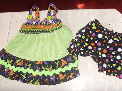 Girls 18-24 mo Halloween costume Haunted House outfit set bloomers and top - Top Toddler Girl Halloween Costumes