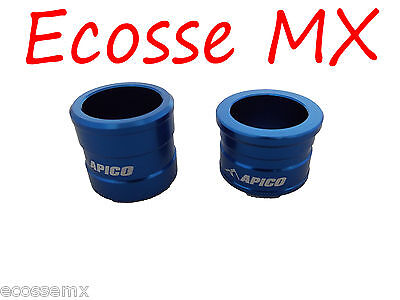 Yamaha YZF250 YZF450 2003-2006 APICO NEW Front Wheel Spacers Blue Motocross for sale  Shipping to Ireland