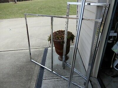 Lot Of 2 Clothing Racks Double Hanging Steel Commercial