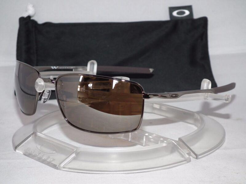 e1db029a01 NEW OAKLEY POLARIZED SQUARE WIRE OO4075-06 Tungsten   Tungsten Iridium  Polarized