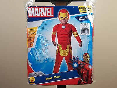 Marvel Iron Man Halloween Costume Toddler Size 2-4 IronMan Muscle Chest - Ironman Toddler Costume