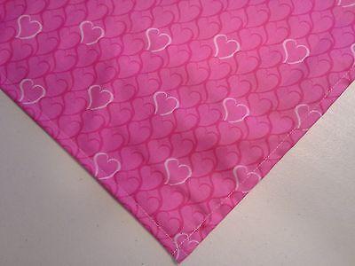 Dog Bandana/Scarf Tie On/Slide On Valentine Hearts Custom Made by Linda XS S M L - Valentine Dog